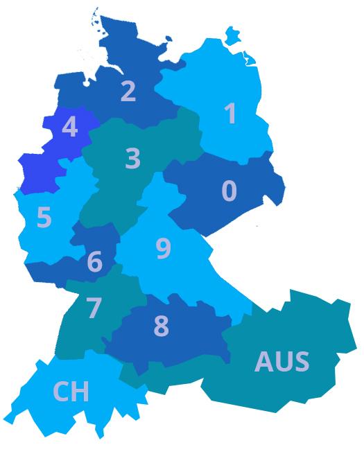 Regionenkarte